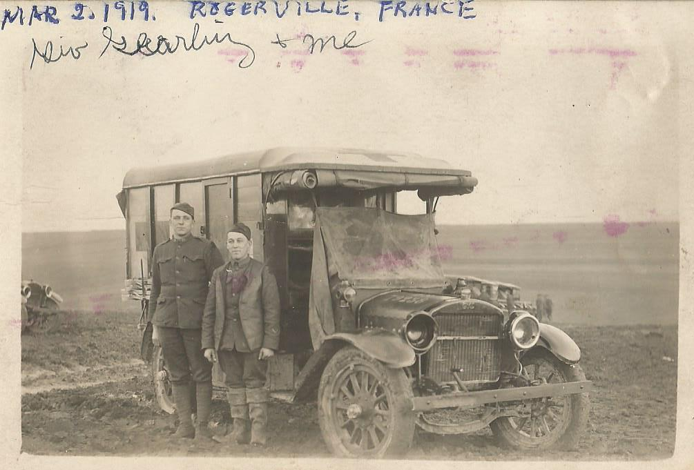 John Roetman_Mar 2_1918_rogerville France with Geo Gearling