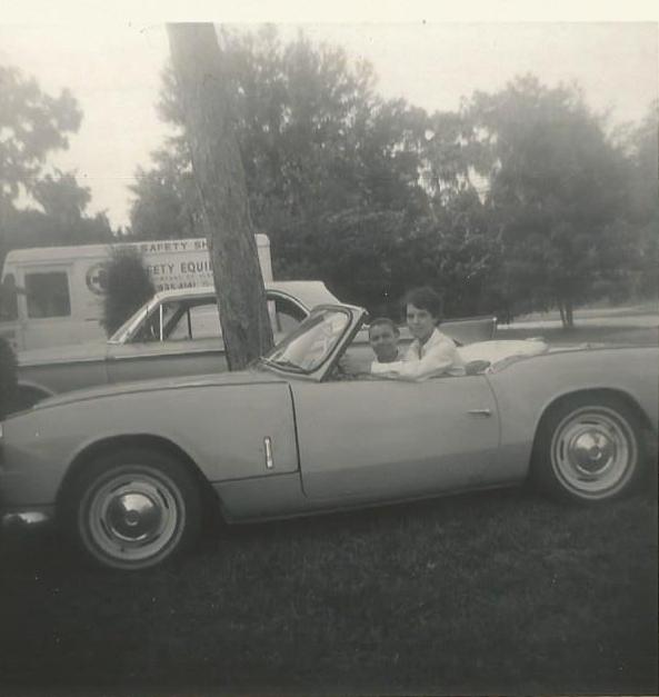 Susie and Pearl in John's car 1969