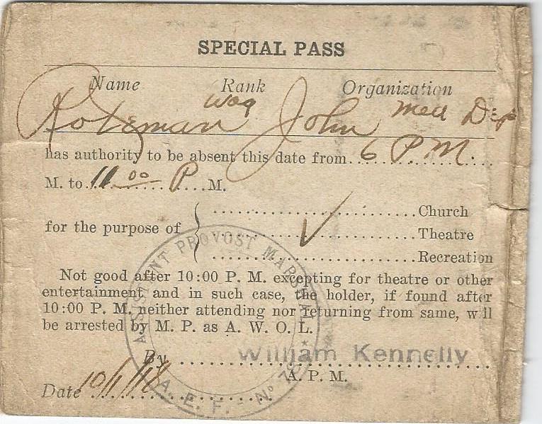 john roetman special pass