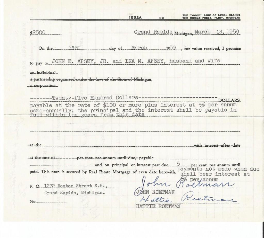 roetman mortgage 1959b