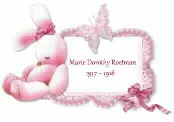 Marie Dorothy Roetman 1917-1918