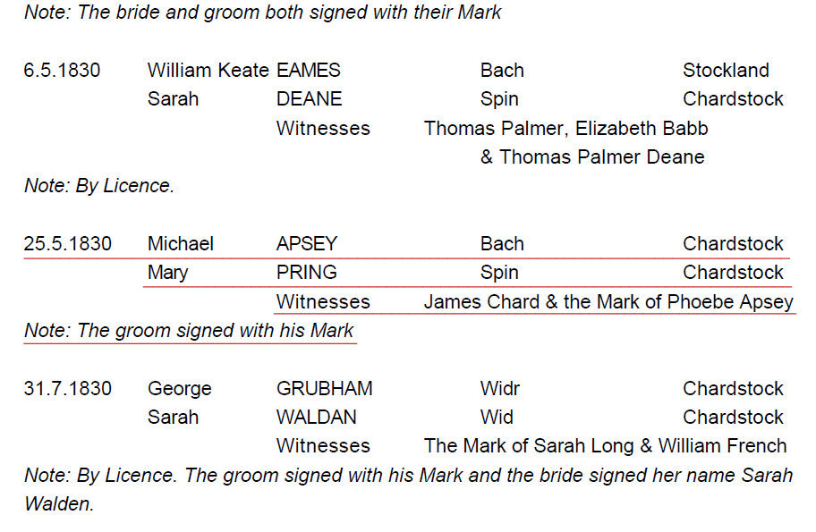 Michael apsey mary pring marriage