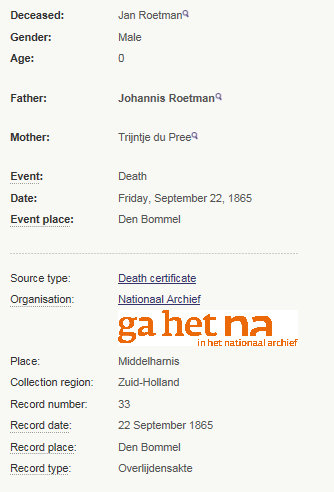 death jan roetman 1865