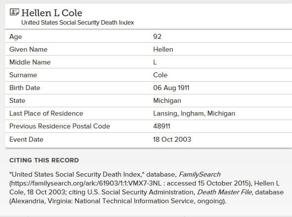 hellen cole