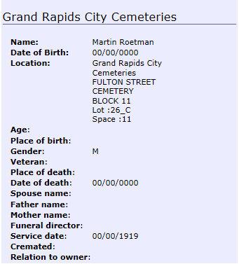 martin roetman burial