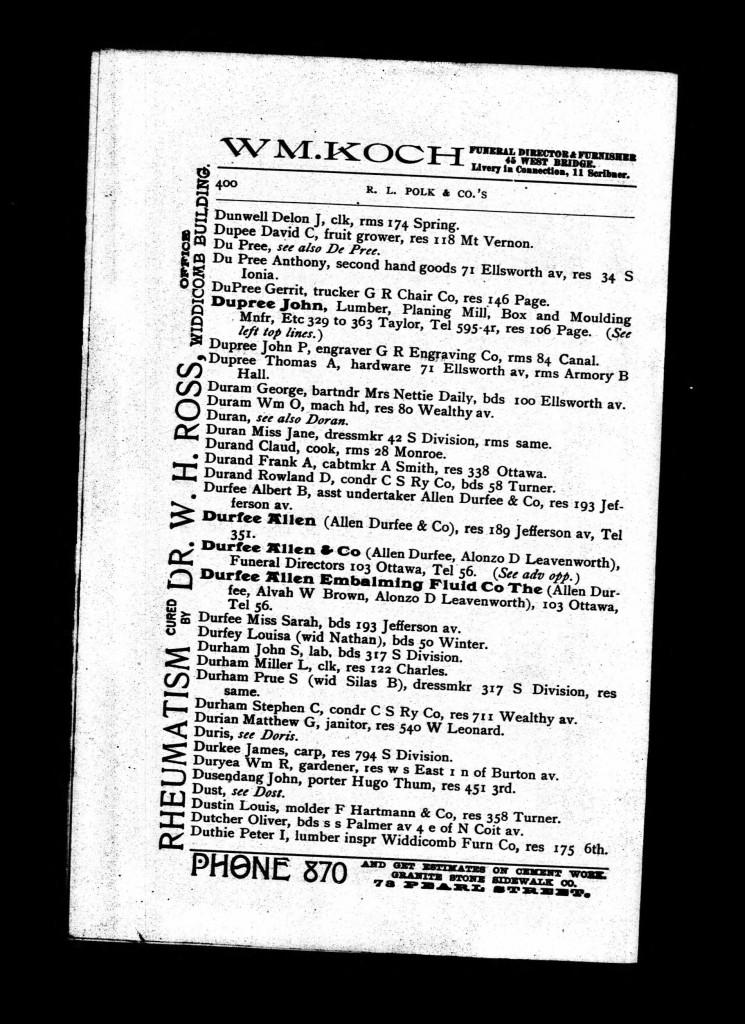 dupree 1892