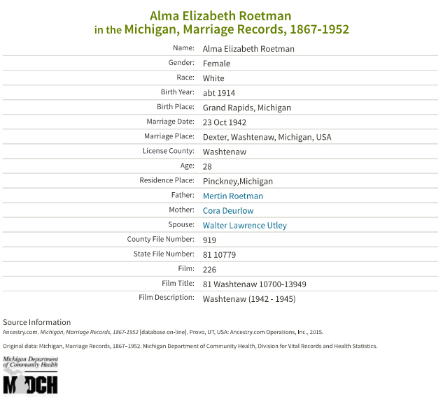 Alma Roetman_marriage