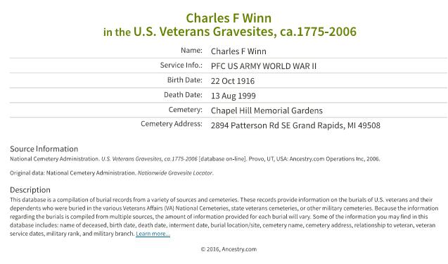 Charles Winn_military