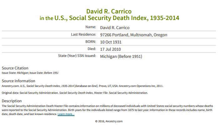 David R Carrico_ss