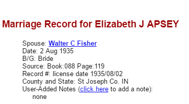 Elizabeth Apsey Walter Fisher_Marriage
