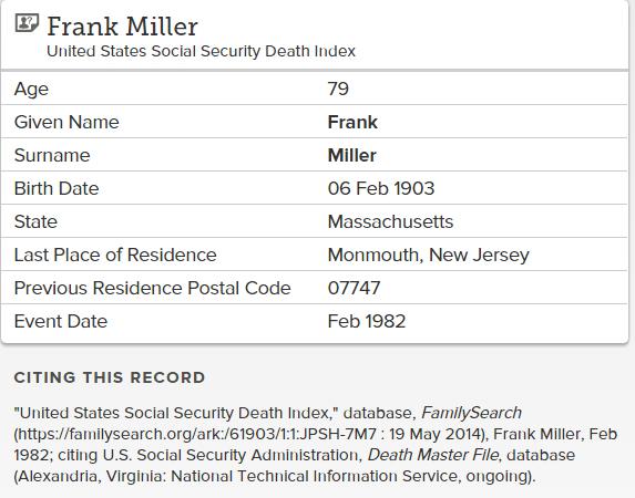 Frank Miller_death
