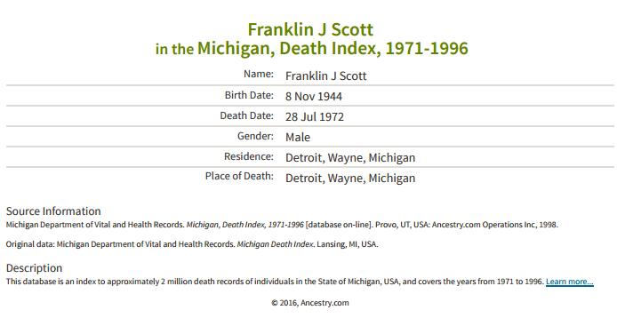 Franklin Scott_death
