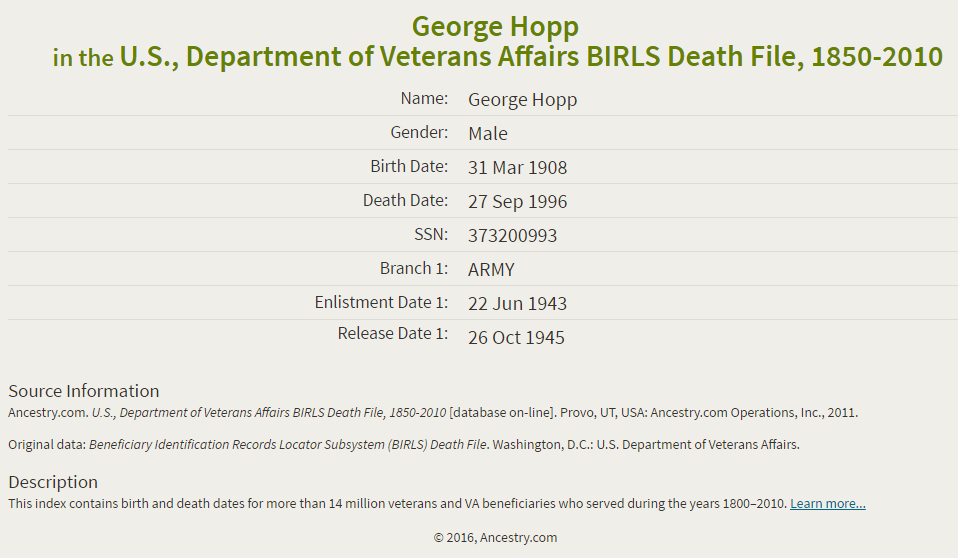 George Hopp jr_veteran file