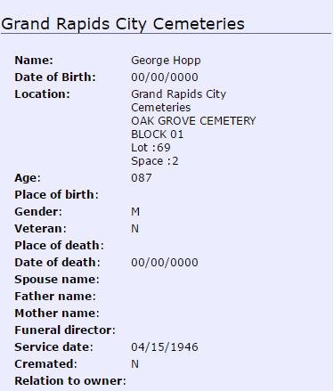 George Hopp_burial