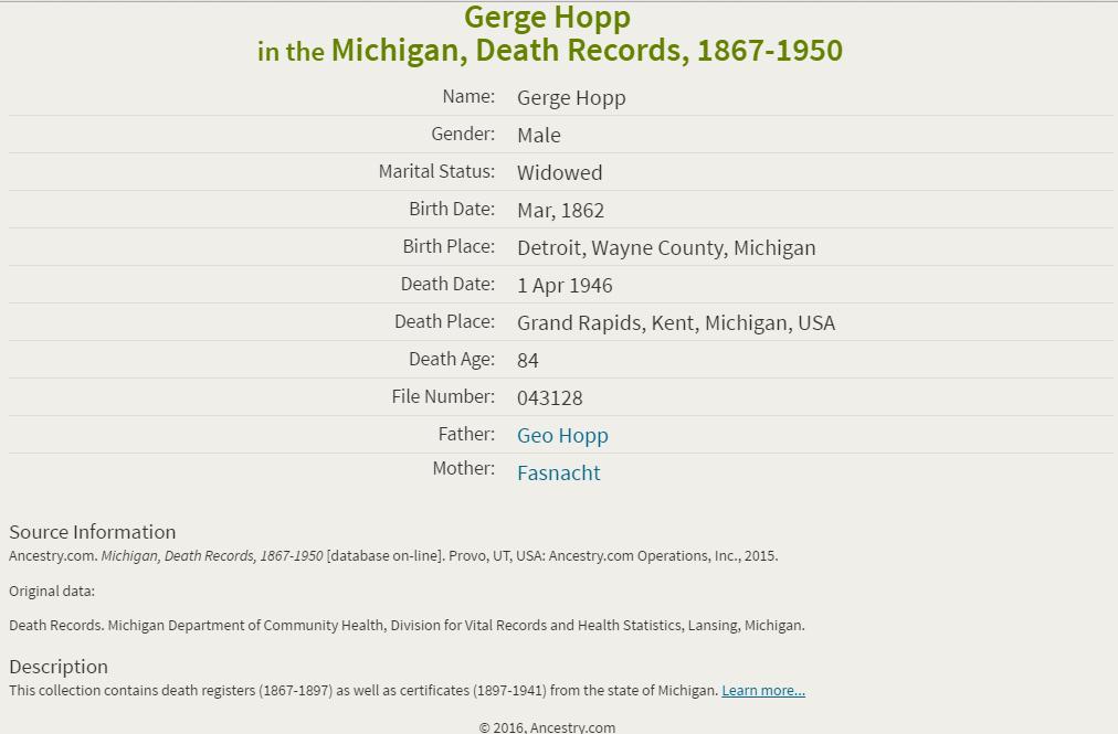 George Hopp_death
