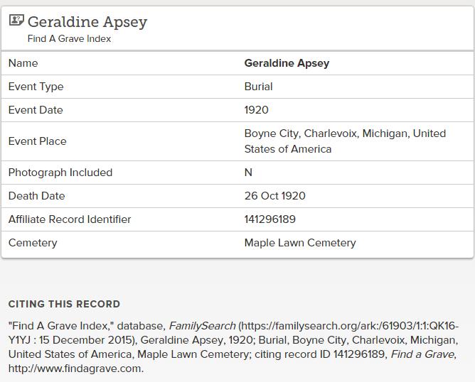 Geraldine Apsey_find a grave