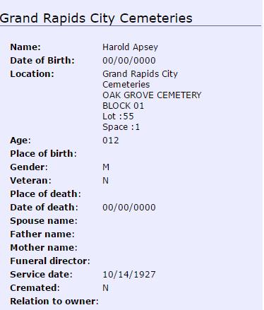 Harold Irving Apsey_burial