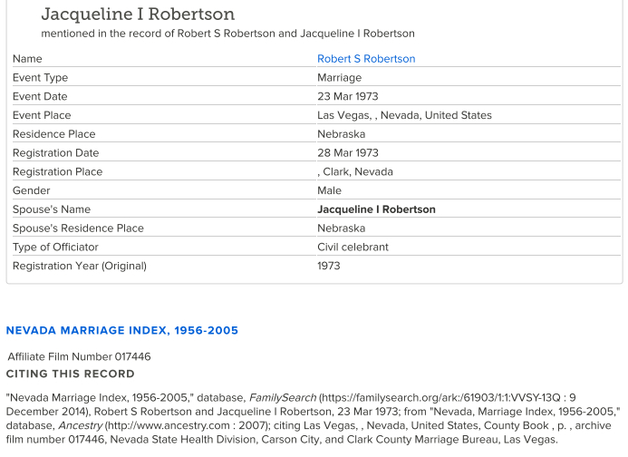 Jacqueline Robertson_Marriage