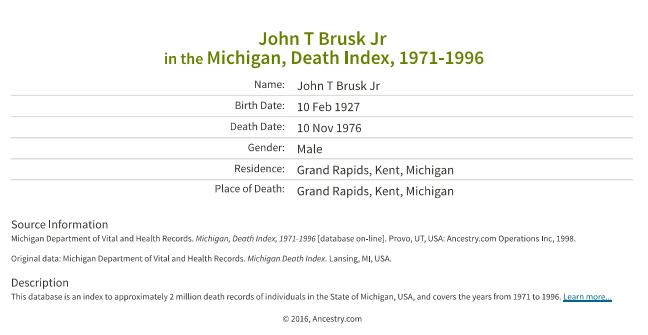John T Brusk Jr_death
