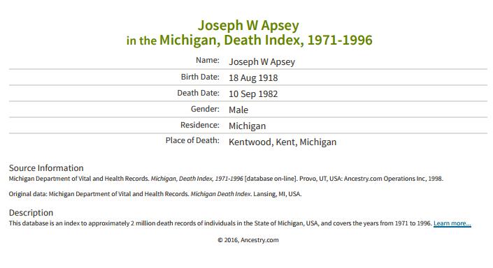 Joseph Apsey_death