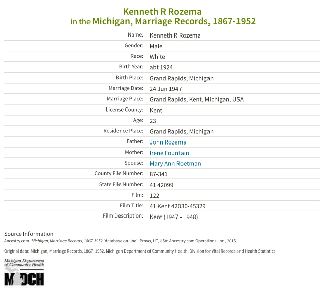 Kenneth Rozema_marriage