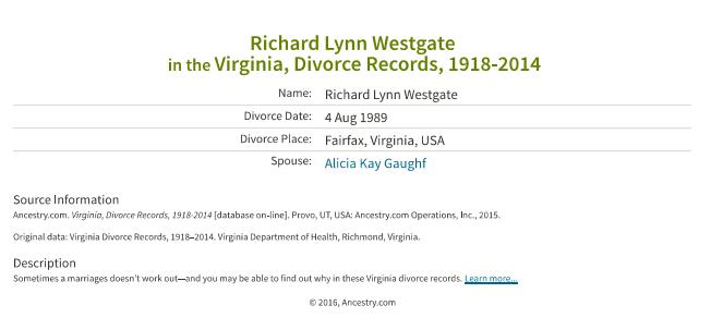 Richard Lynn Westgate_divorce