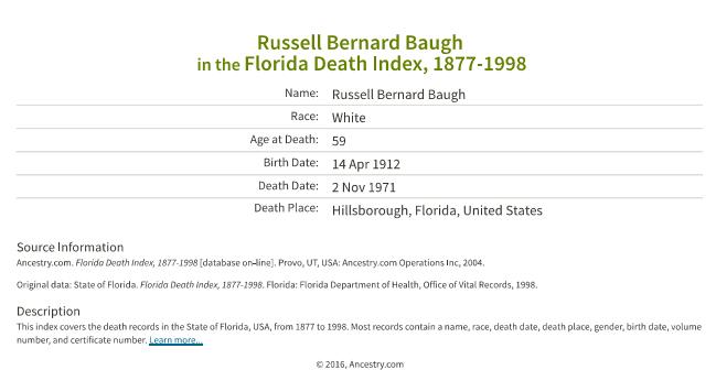 Russell Baugh_death