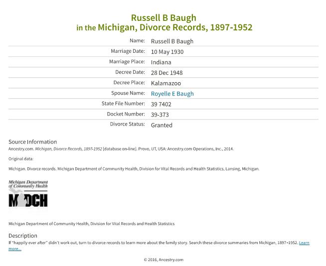 Russell Baugh_divorce