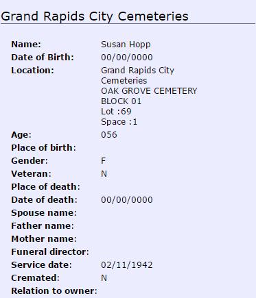 Susan Hopp_burial
