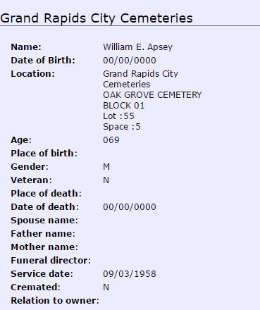 William Apsey_burial