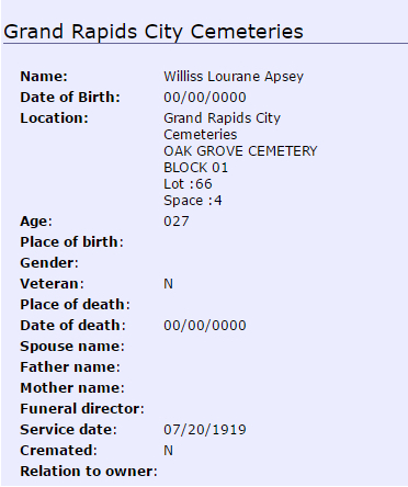 Willis Apsey_burial