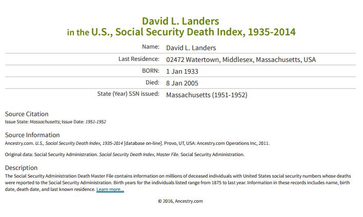David Landers_death