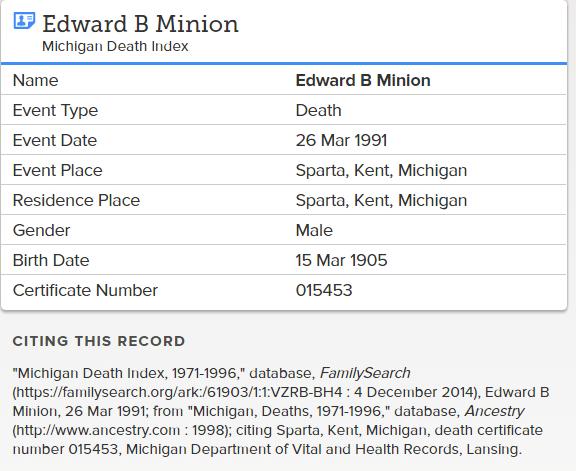 Edward B Minion_death