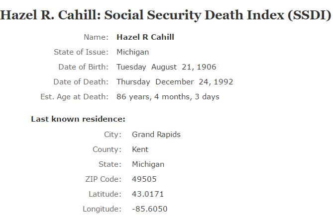 Hazel Cahill_ssdi