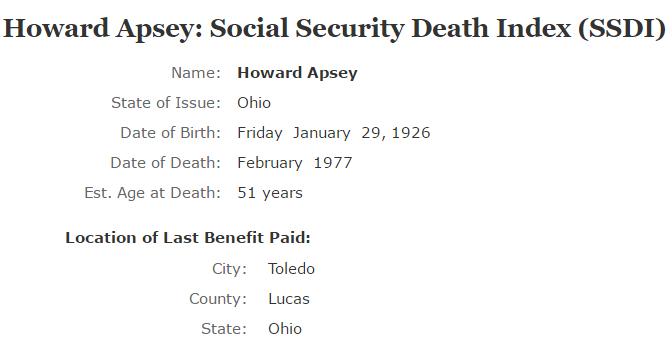 Howard Apsey_ssdi