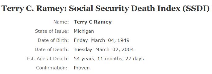 Terry Ramey_ssdi