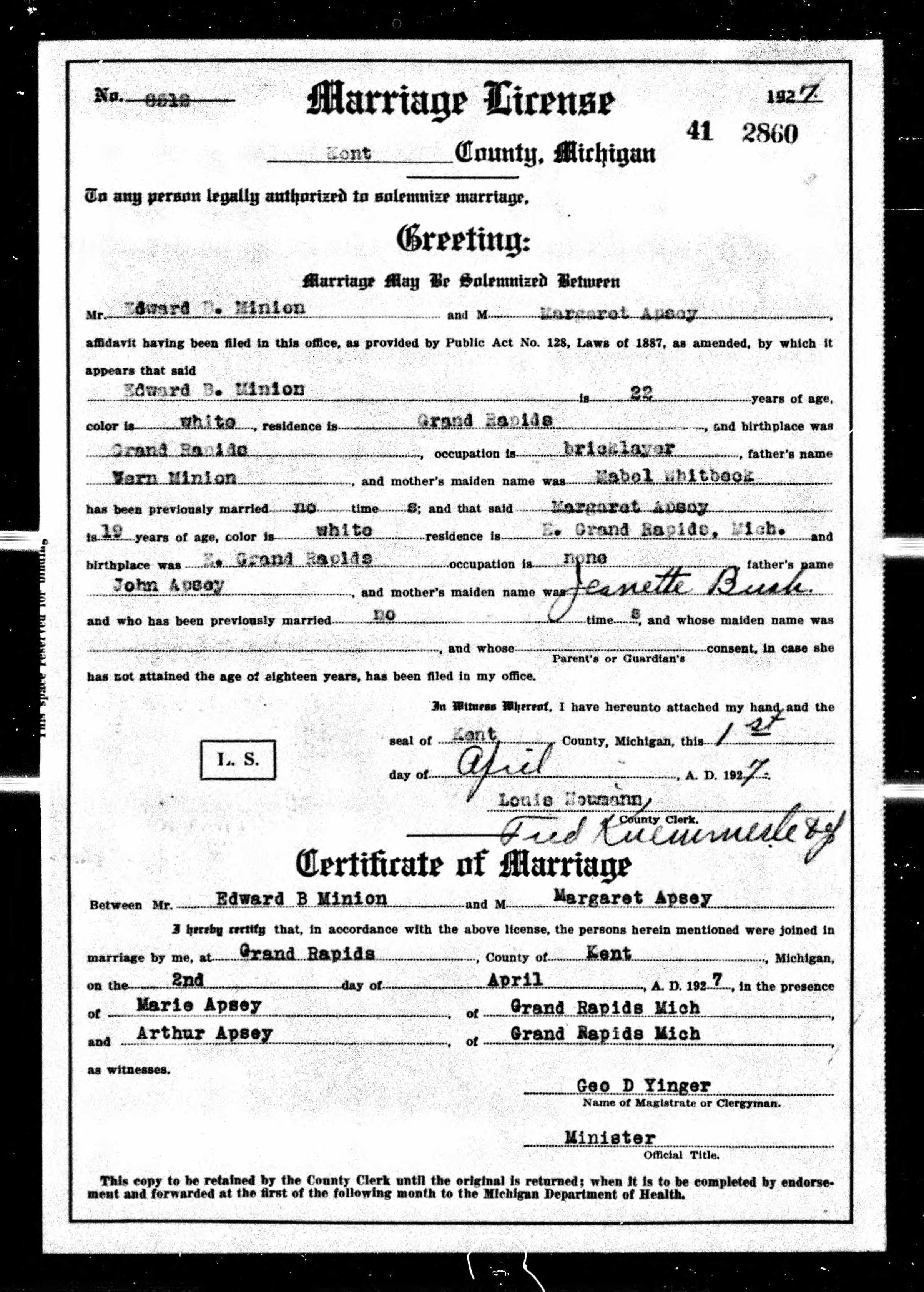 margaret apsey ed minion marriage