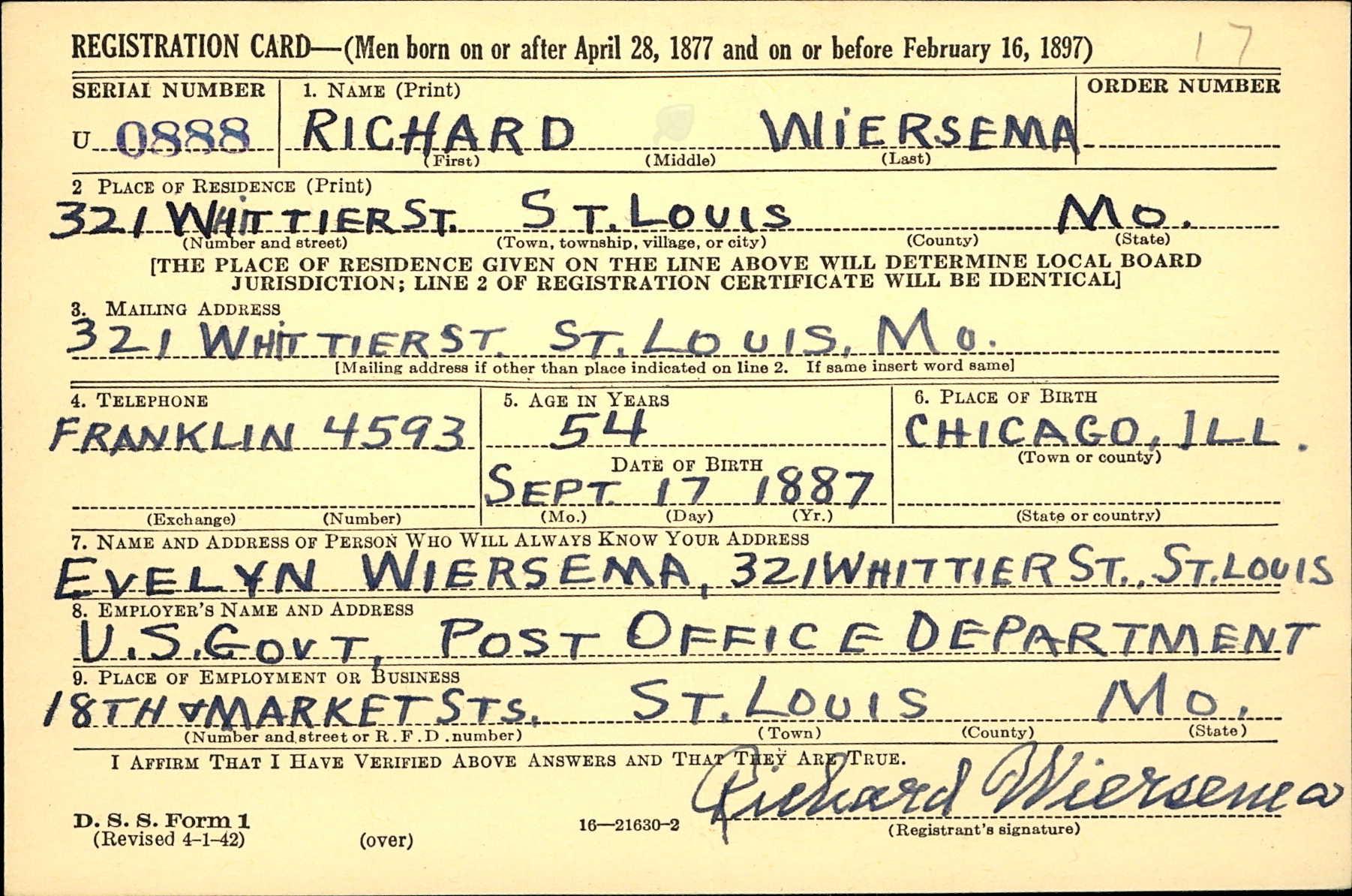 richard-wiersema-ww2-draft